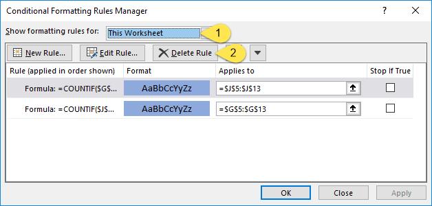 استفاده از تابع Countif برای استخراج تراکنش های یکسان