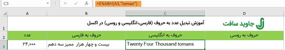 تبدیل عدد به حروف انگلیسی