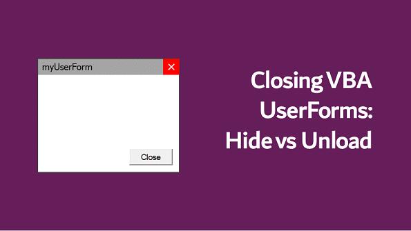 نمایش و مخفی کردن userform در اکسل