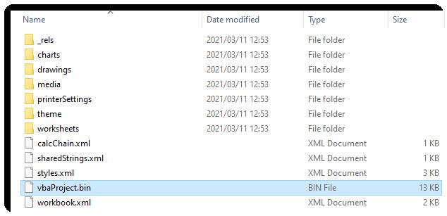 باز کردن فایل vbaProject.bin